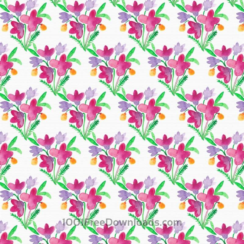 Free Vectors: Watercolor floral pattern | Backgrounds