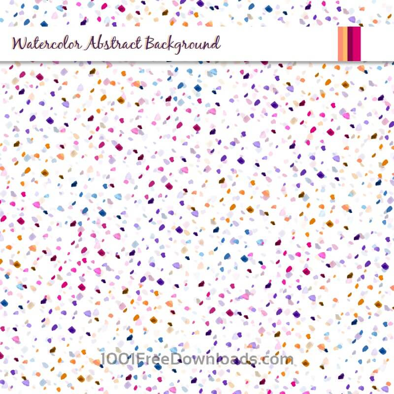 Free Watercolor abstract background with colorful dots