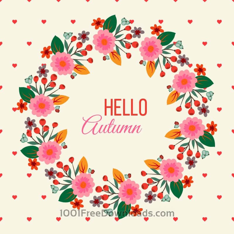 Free Floral Frame Illustration