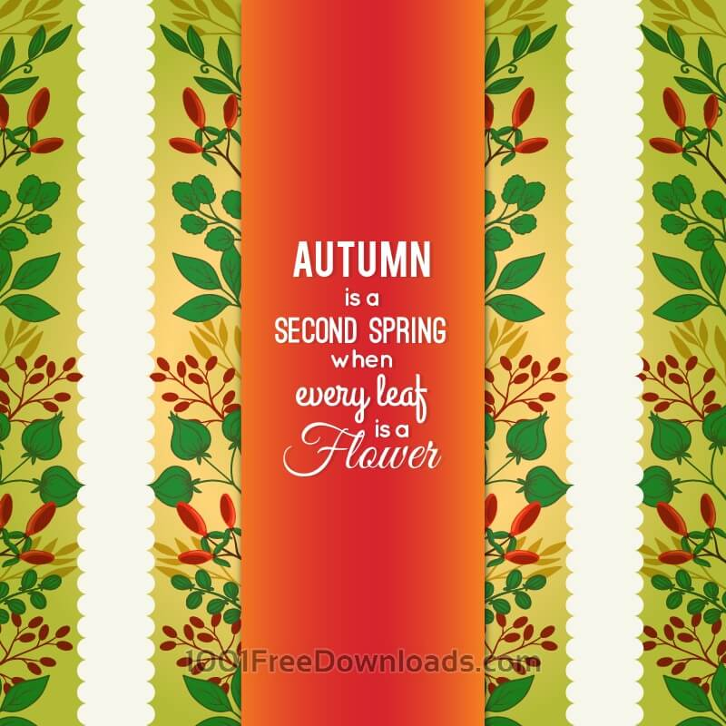 Free Autumn Floral Card