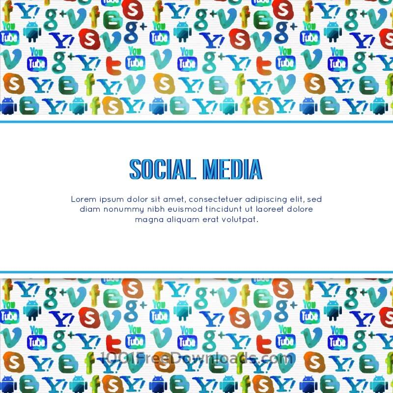 Free Vectors: Social Media Background | Backgrounds