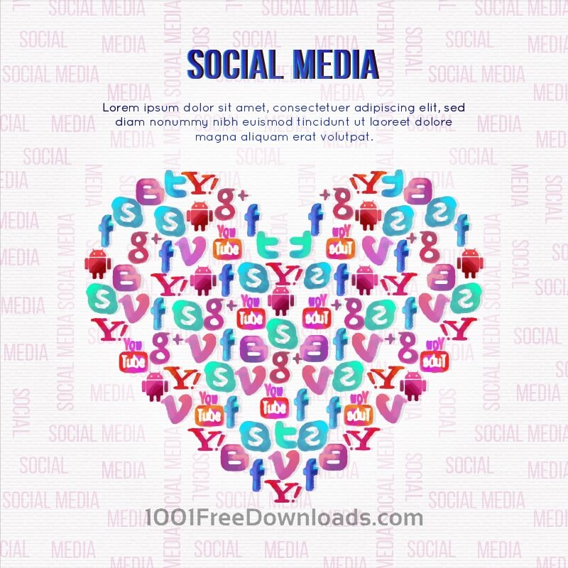 Free Vectors: Social Media Illustration | Backgrounds