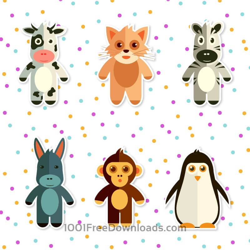 Free Set of cute animals