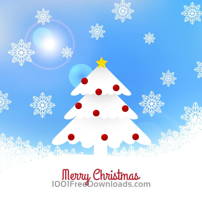 Free Vectors: Christmas tree illustration | Backgrounds