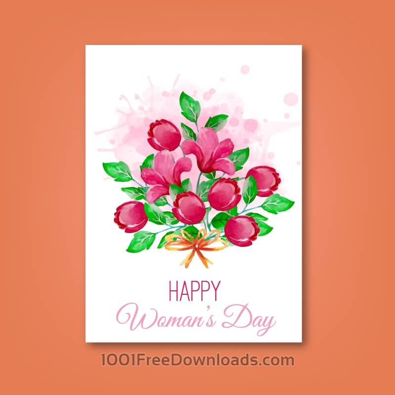 Free Women's Day Romantic Card