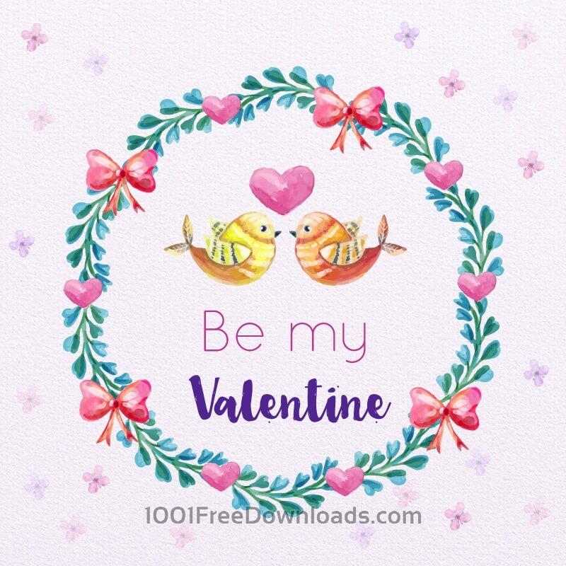 Free Vectors: Valentine's Day Romantic Frame  | Valentine