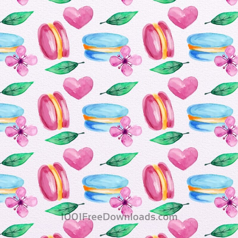 Free Vectors: Cute Watercolor Pattern with Candies | Patterns