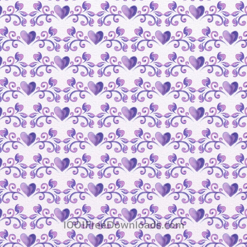 Free Watercolor Romantic Floral Pattern