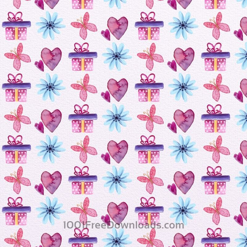 Free Vectors: Cute Valentine's Day Pattern | Backgrounds