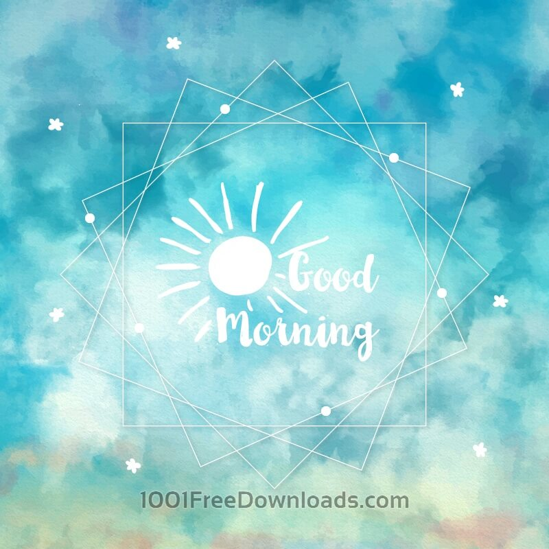 Free Watercolor sky background