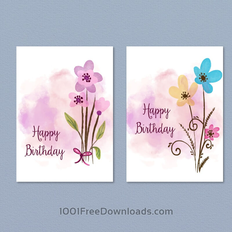 Free Floral card collection