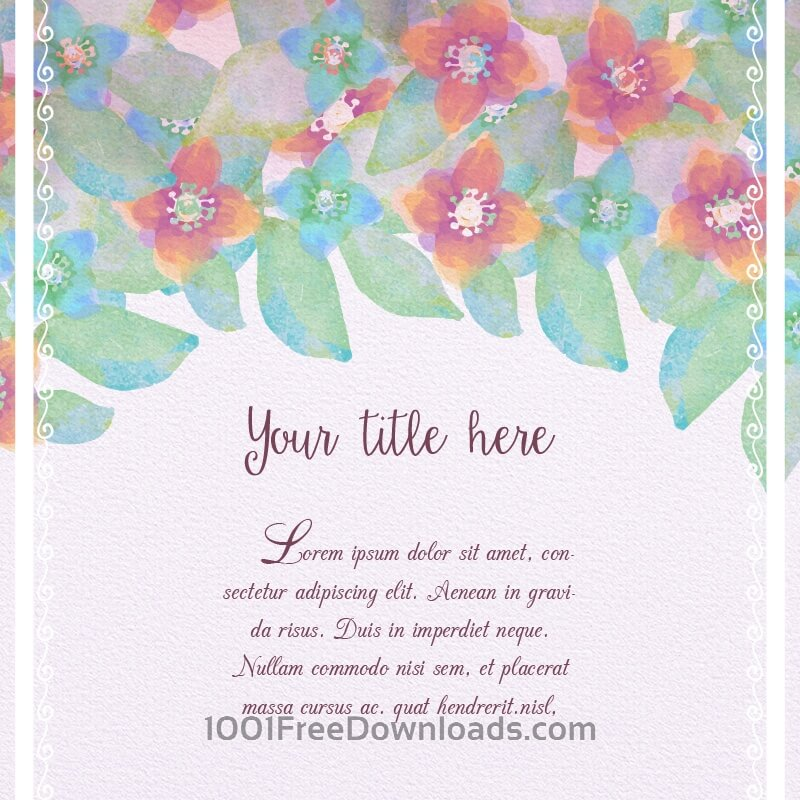 Free Watercolor floral illustration
