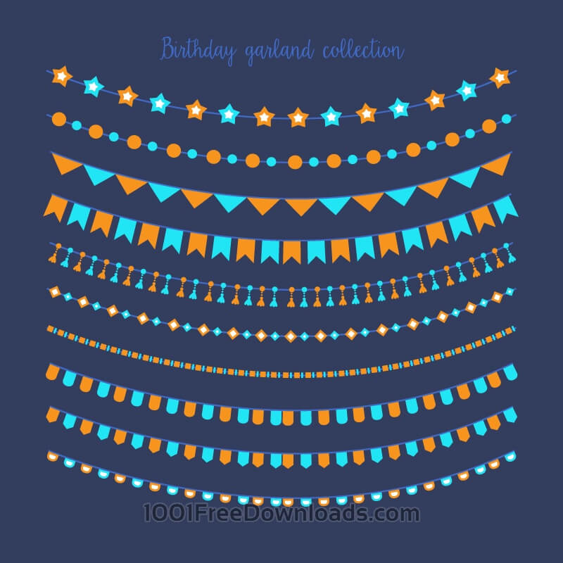 Free Vectors: Birthday garland collection | Objects