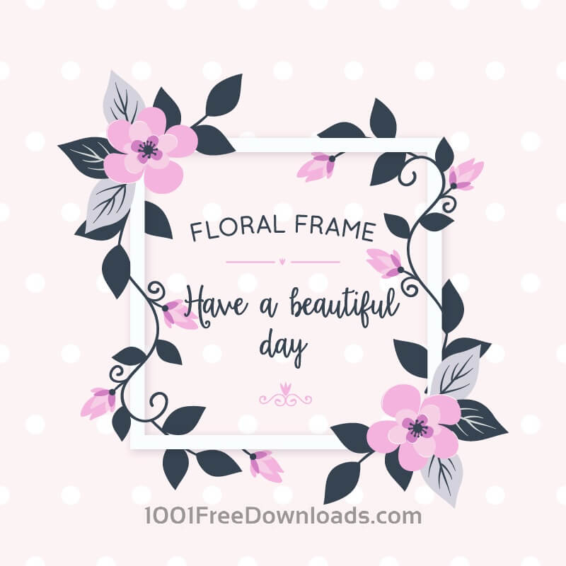 Free Vectors: Floral card with flowers | Flowers