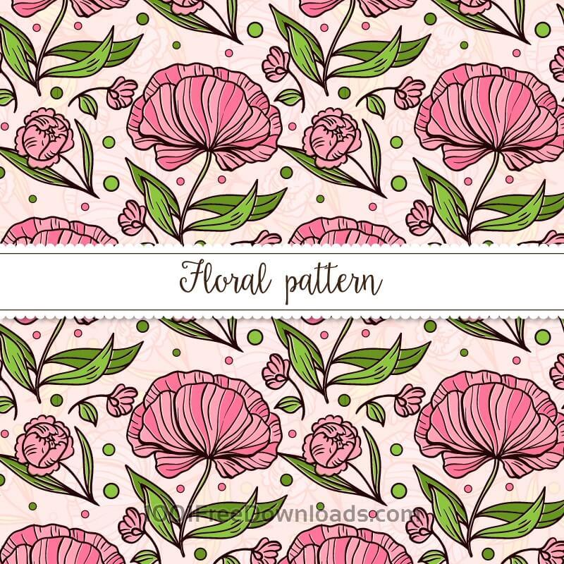 Free Vectors: Vintage floral pattern | Patterns