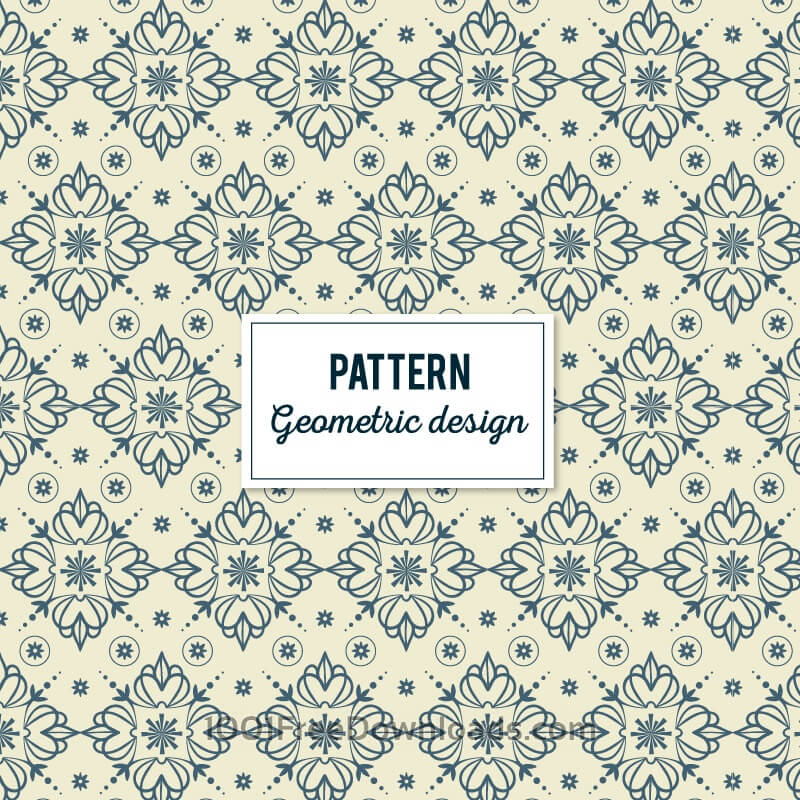 Free Vectors: Creative Floral Geometric Pattern | Patterns