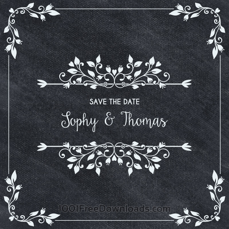 Free Vectors: Wedding card invitation | Backgrounds