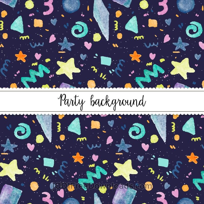 Free Vectors: Watercolor Party Background | Patterns