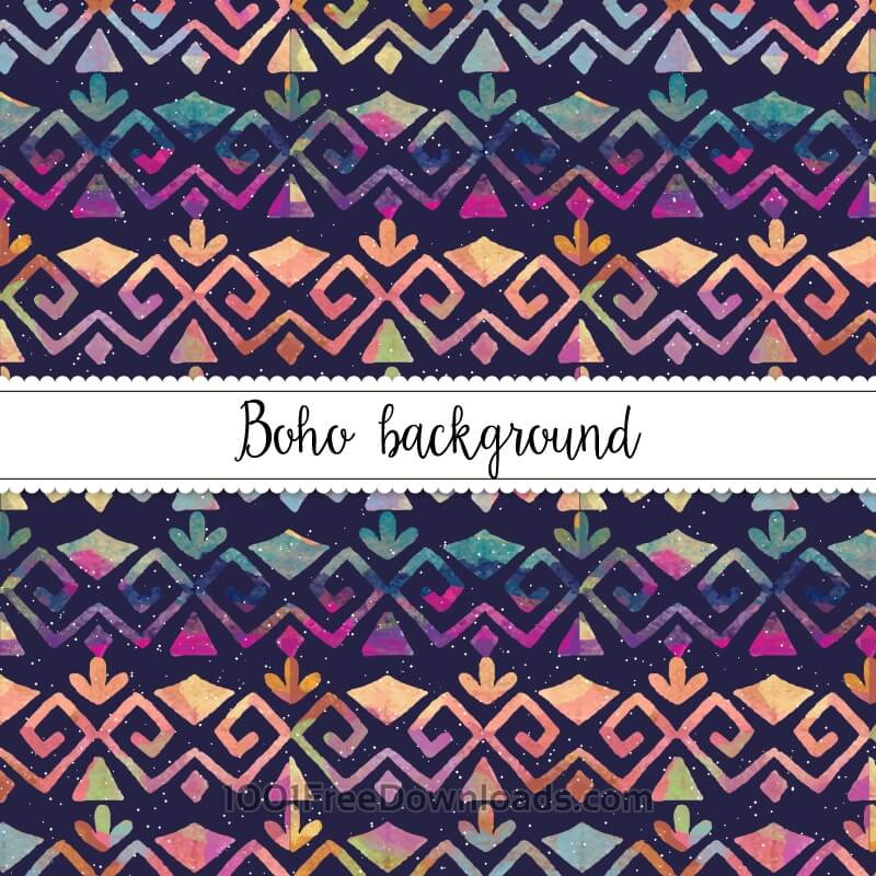 Free Watercolor Boho Pattern