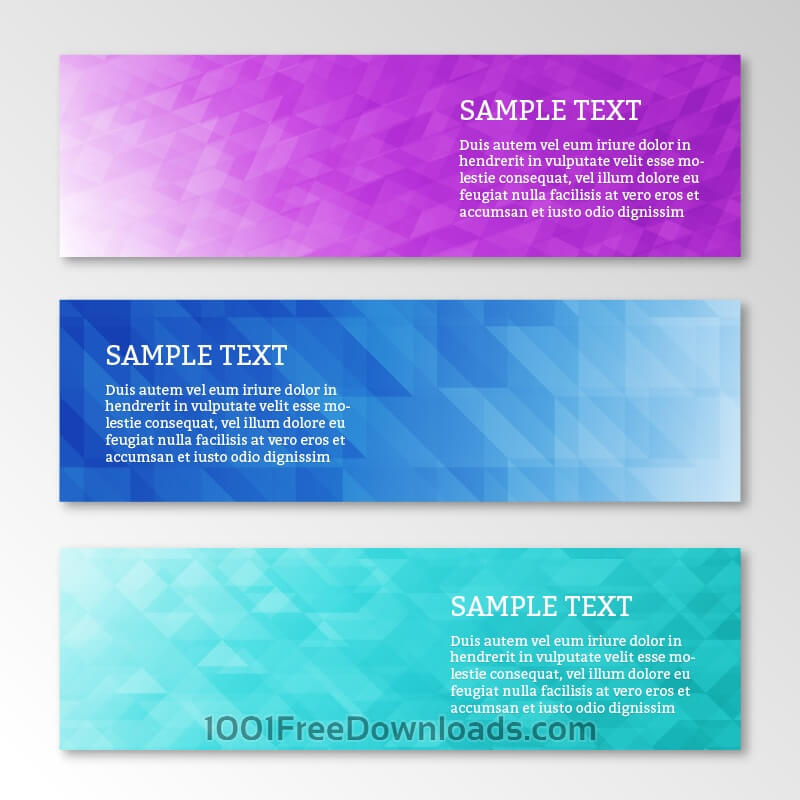 Free Vectors: Abstract business geometric banners set | Abstract