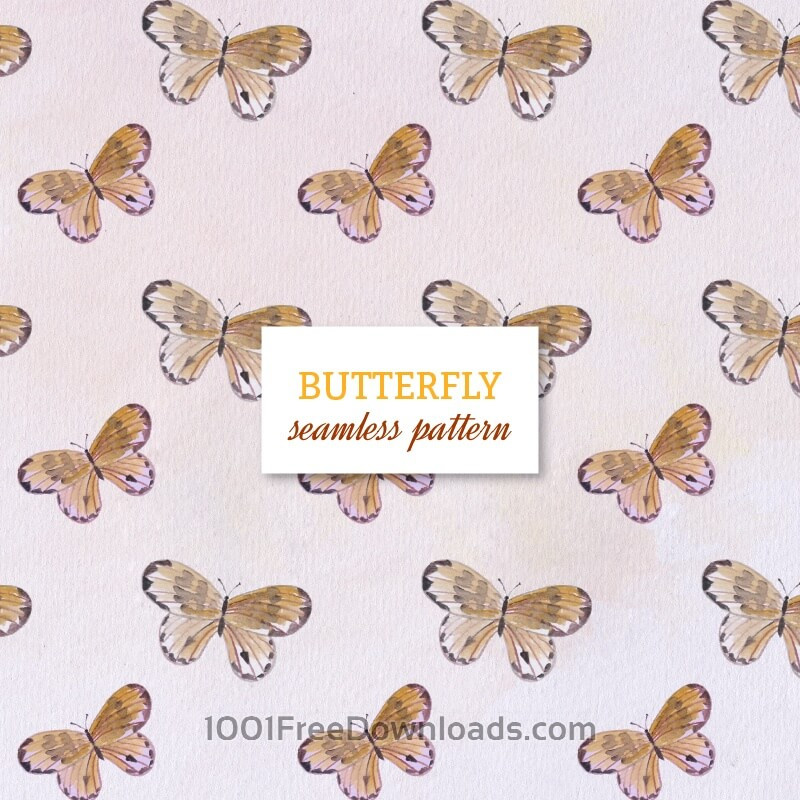 Free Watercolor seamless pattern with butterflies