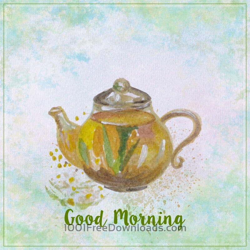 Free Vectors: Watercolor teapot illustration. Watercolor hand drawn painted teapot | Abstract
