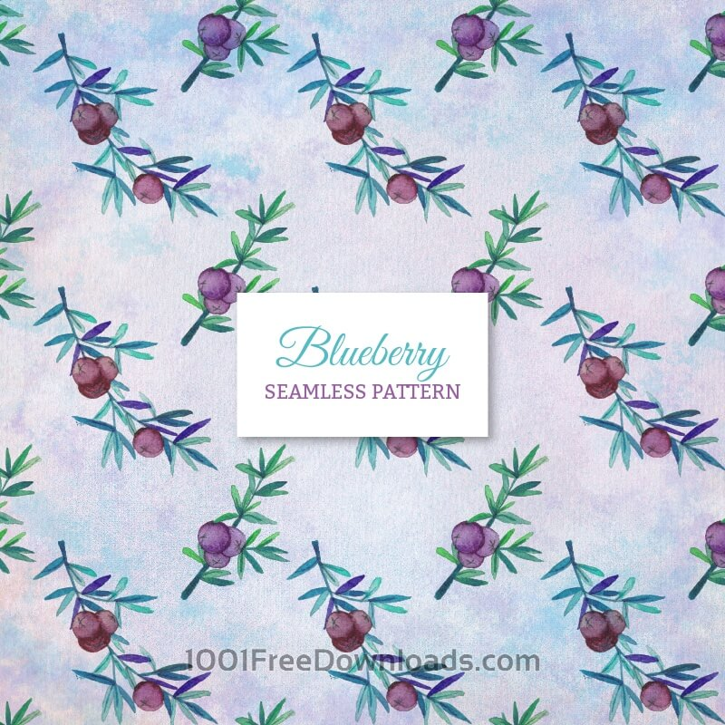 Free Vectors: Blueberry seamless pattern | Abstract