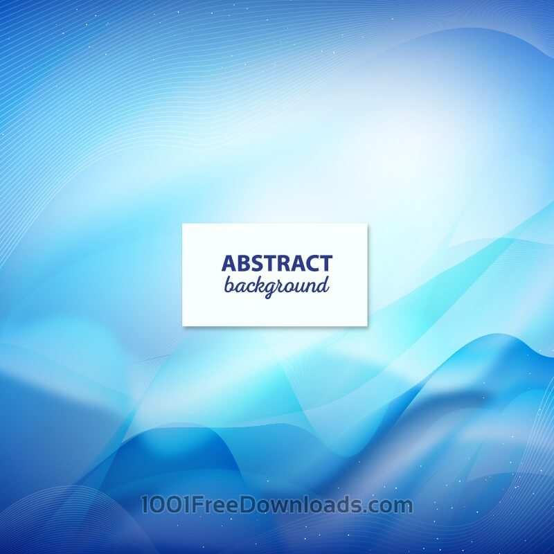 Free Blue abstract wavy modern background design