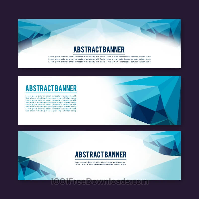 Free Vectors: Set of banners with different design elements | Abstract