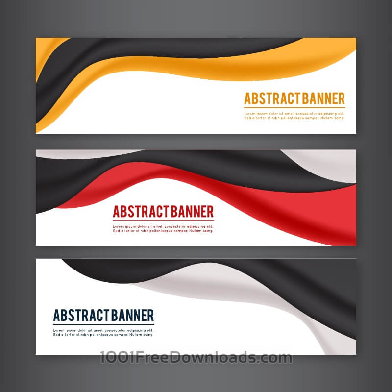 Free Set of banners with different design elements