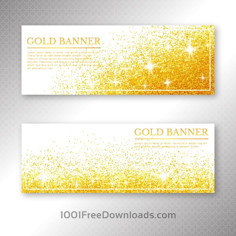 Set of banners with different design elements