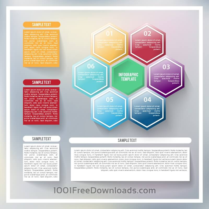 Free Abstract infographic template