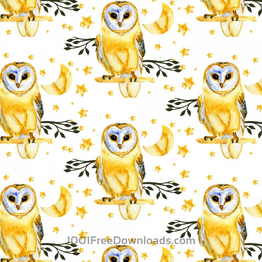 Free Vectors: Owl background | Patterns