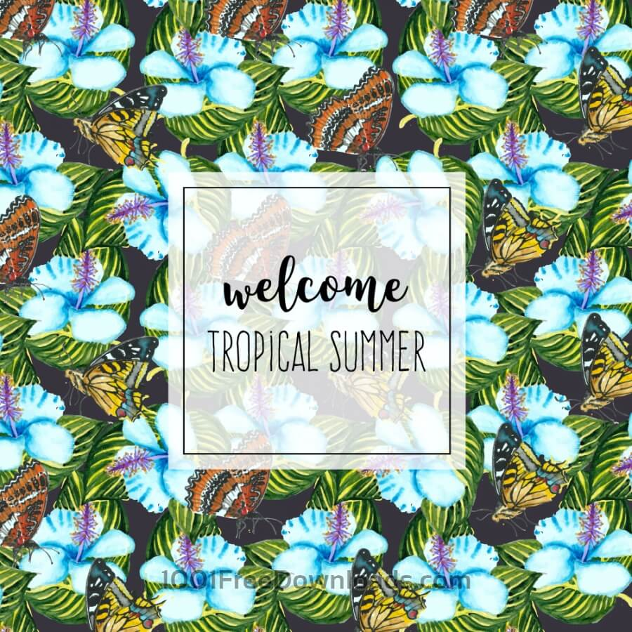 Free Watercolor tropical background