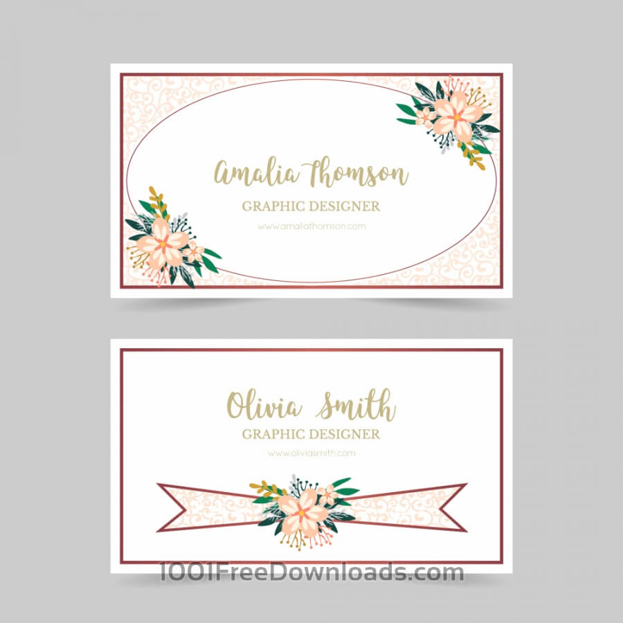 Free Floral business card