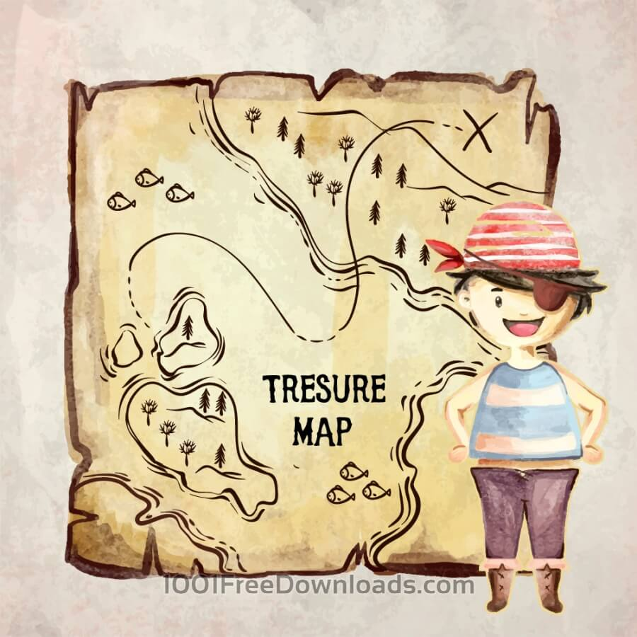 Free Treasure pirate map