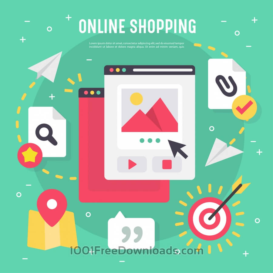 Free Vectors: Online shopping vector elements | Business