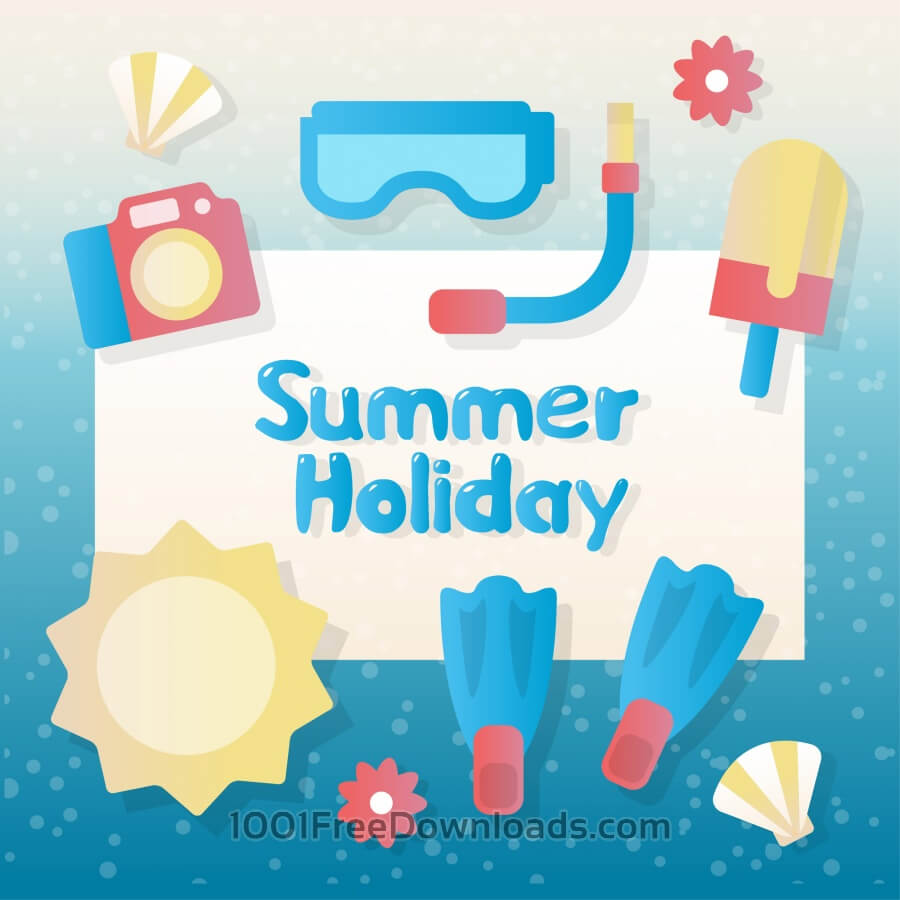 Free Vectors: Summer vector elements and accessories | Backgrounds