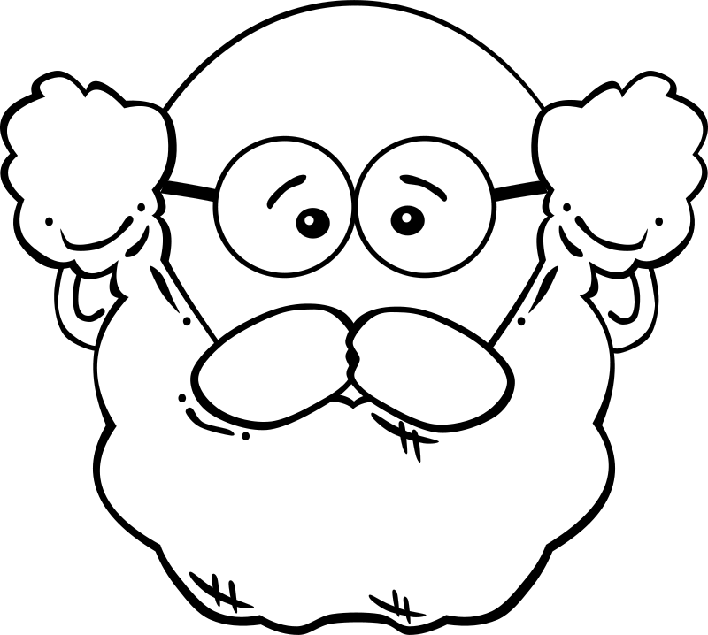 Free Clipart G Man Face 1