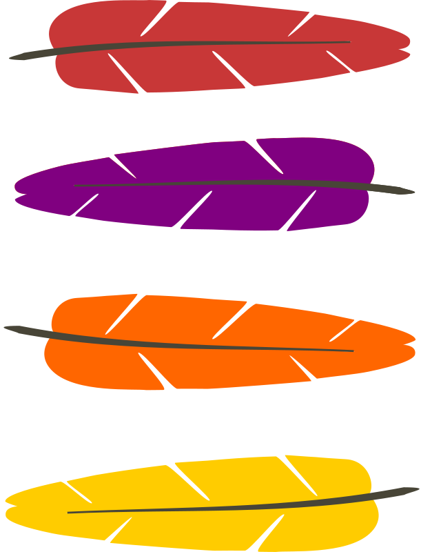 free clipart colored feathers pauthonic rh 1001freedownloads com feather clip art images feather clip art free