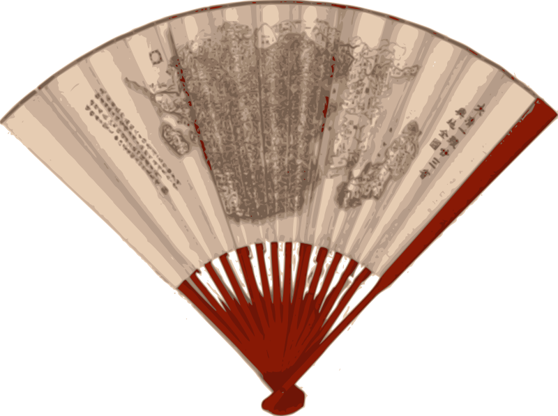 Free Asian Fan with a map - 1890