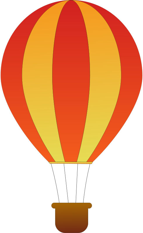Free Vertical Striped Hot Air Balloons 2