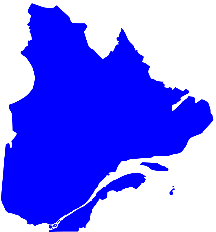 Free Clipart: Quebec map | paradoxall on