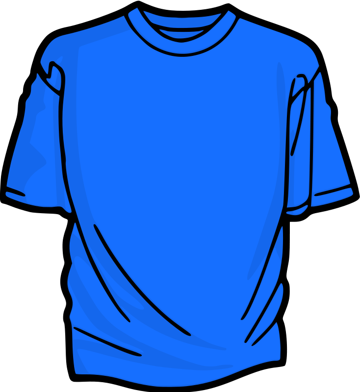 Image result for blue t shirt clipart