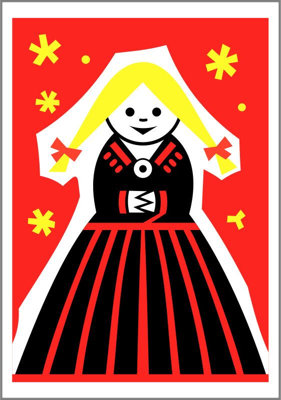 Free Matchbox label (girl) by Rones