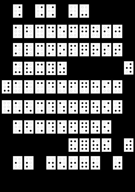 Free Clipart: Braille alphabet francais | Cosinus