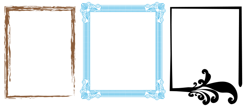 Free Clipart: Artistic Frames 1 | meticulous