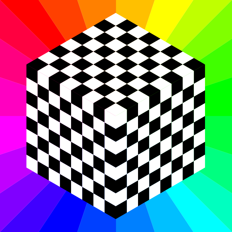 Free 3d chessboard 8 squares