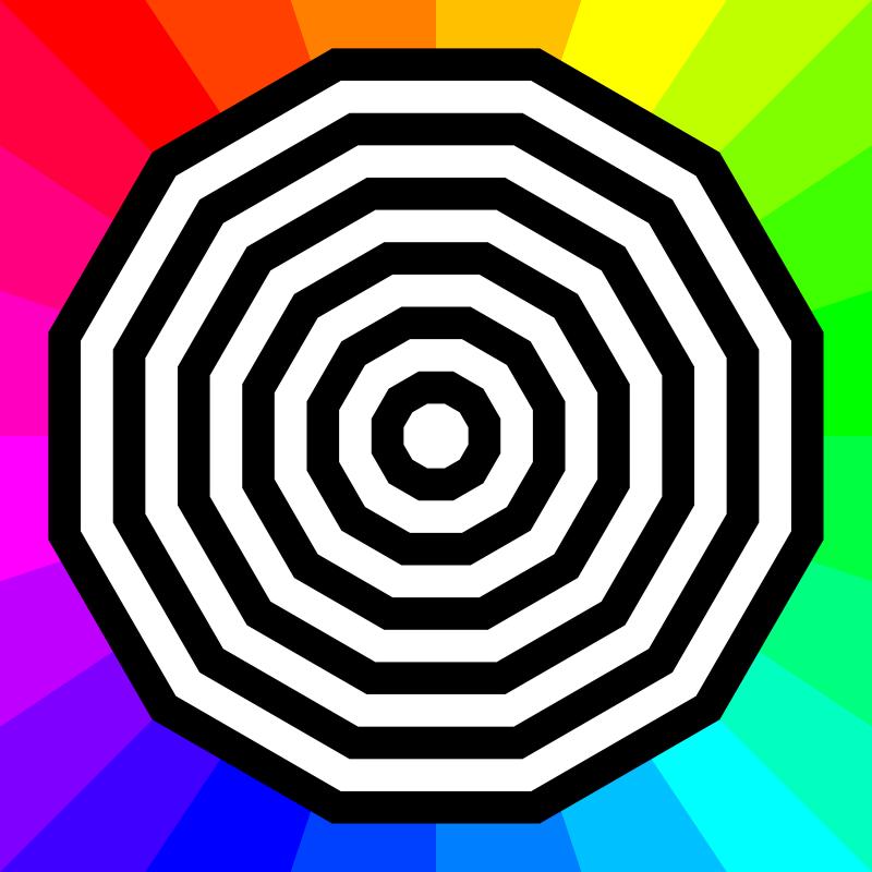 Free dodecagon target