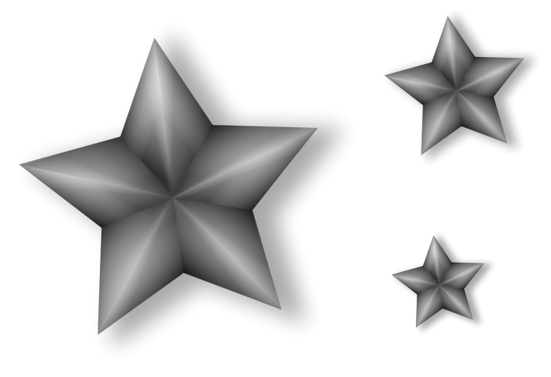 Free 3 Metal Stars with Transparency